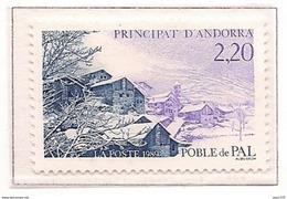 ANDORRA FRANCESA 1989 - LA VILLA DE PAL EN INVIERNO - YVERT Nº 377**