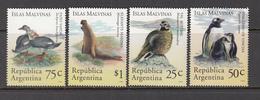 BIRDS Vogel Oiseaux Animals 1994 Argentina Mi 2213-2216 MNH (**) #6032