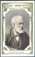 Chromo Chocolat Guerin-Boutron Livre D´or Célébrités Contemporaines - 85 Jules Verne écrivain - Guérin-Boutron