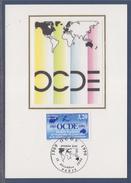 = Anniversaire Organisation Coopération Développement Economique Carte Postale 1er Jour Paris 15.12.90 N°2673 Sigle OCDE - Cartoline Maximum