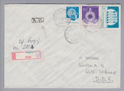 Rumänien 1988-01-17 Lugoj R-Rückscheinbrief In Die DDR - 1948-.... Républiques