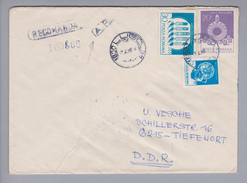 Rumänien 1990-02-19  Lugoj R-Rückscheinbrief In Die DDR - 1948-.... Républiques