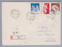 Rumänien 1988-04-22  Lugoj R-Rückscheinbrief In Die DDR - 1948-.... Républiques