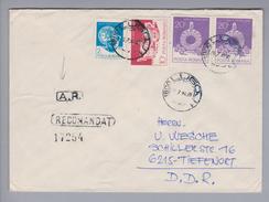 Rumänien 1990-07-20  Lugoj R-Rückscheinbrief In Die DDR - 1948-.... Républiques