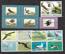 MARSHALL, MICRONESIA 4 SETS MNH**. BIRDS, OISEAUX, PAJAROS.