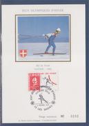 = Jeux Olympiques D'hiver Albertville 92 Carte Postale 1er Jour 73 Les Saisies 2.2.91 N°2678 Ski De Fond Savoie 92 - Cartoline Maximum
