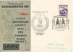 Austria Cover Leoben 18-10-1962 SOS KINDERDÖRFER BERGMANNSTAG - 1945-.... 2. Republik