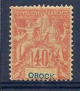 OBOCK - 41  40C ORANGE TYPE GROUPE NEUF* MLH COTE 27 EUR - Neufs