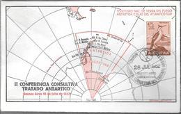 II CONFERENCIA CONSULTIVA TRATADO ANTARTICO RARES ENVELOPPE BUENOS AIRES 18 DE JULIO DE 1962 AVE CORMORAN  PHALACROCORAX - Postzegels
