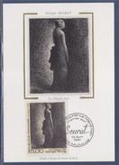 = Série Artistique Le Noeud Noir Carte Postale 1er Jour Mulhouse 13.4.91 N°2693 De Georges Seurat - Cartoline Maximum