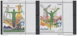 GREECE, 2016, MNH, OLYMPICS, RIO OLYMPICS, POSEIDON, CHRIST STATUE RIO, 2v