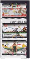 TURKISH CYPRUS, 2016, MNH, RIO OLYMPICS, GYMNASTICS, SWIMMING, 3v