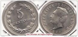 EL SALVADOR 5 Centavos 1977 KM#149a - Used - El Salvador