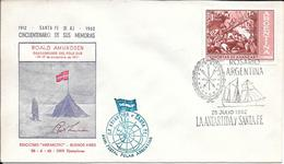 ROALD AMUNDSEN DESCUBRIDOR DEL POLO SUR AVEC SIGNATURE CINCUENTENARIO DE SUS MEMORIAS 1912-1962 SOBRE TRES BON ETAT - Postzegels