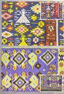 CARTPET  TRADITIONAL ROMANIA, FOLK, TAPESTRY,  2 MAXI CARD