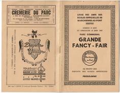 Ligue Des Amis Des écoles Officielles De Marchienne-au-pont, 1957, Grande Fancy-Fair, Programme 24 Pages, Nombreuses Pub - Programas