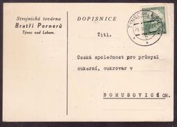 TY70        Böhmen Und Mähren (1939) - Týnec Nad Labem - Boemia E Moravia