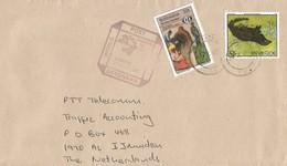 Botswana 1996 Lobatse Blind Water Mongoose Cat Of Prey UPU Handstamp Cover - Botswana (1966-...)