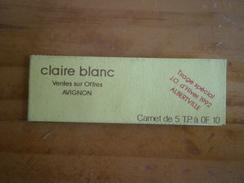 Carnet Publicitaire Claire BLANC Ouvert Jeux Olympiques Albertville 92 Passage De La Flamme Olympique à Avignon 30.01.92 - Libretas