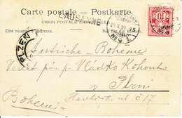 """CACHET LINEAIRE DE """" LAUSANNE """" SUR CARTE POSTALE - 1900 - DOS UNIQUE - LAUSANNE, LA CATHEDRALE - Poststempel"""