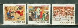 Canada 1984 -  1078/1080  - Yv. 899/801 -  Used - Christmas