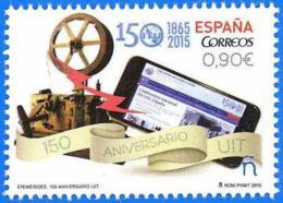 España. Spain. 2015 (**) 150 Años De La Union Internacional De Telecomunicaciones