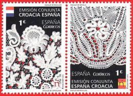 España. Spain. 2015 (**) Emisión Conjunta España-Croacia. Encaje De Bolillos