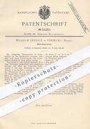 Original Patent - Wilhelm Lederle , Freiburg , 1889 , Bohrmaschine | Bohrmaschinen , Bohren , Bohrer , Werkzeug , Metall - Historische Dokumente