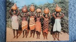 CPSM KENYA FEMMES GIRIMA AVEC LEURS CRUCHES D EAU SEINS NUS - Kenya