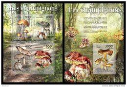 CENTRAL AFRICA 2013 - Mushrooms - YT 2758-61 + BF551; CV = 37 € - Funghi