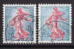 FRANCE 1960 - Y.T. N° 1233 X 2 NUANCES - OBLITERES / K23 - France