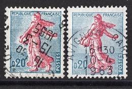 FRANCE 1960 - Y.T. N° 1233 X 2 NUANCES - OBLITERES / K20 - Gebraucht