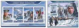 Z08 IMPERF TG17219ab TOGO 2017 Ernest Henry Shackleton MNH ** Postfrisch Set - Dschibuti (1977-...)