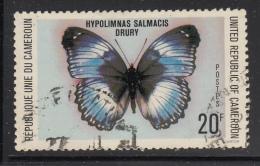 Cameroun Used 1978 Scott #644 20fr Hypolimnas Salmacis Drury - Butterflies - Cameroun (1960-...)