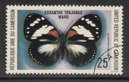 Cameroun Used 1978 Scott #645 25fr Euxanthe Trajanus Ward - Butterflies - Cameroun (1960-...)