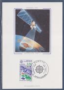 = Europa 1991 Carte Postale 1er Jour 67 Strasbourg 27.4.91 Timbres 2697 L'Europe Spatiale Guyane Satellite De Télévision - Cartoline Maximum