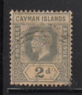 Cayman Islands Used 1912-20 Scott #35 2p George V - Iles Caïmans