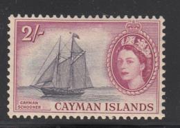 Cayman Islands MH 1953-59 Scott #146 2sh Cayman Schooner, Elizabeth II - Iles Caïmans