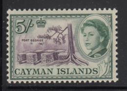 Cayman Islands MH 1962 Scott #165 5sh Fort George, Elizabeth II - Iles Caïmans