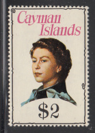 Cayman Islands MNH 1974-75 Scott #345 $2 Queen Elizabeth II - Iles Caïmans