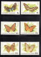 Cayman Islands MNH 1977 Scott #386-#391 Set Of 6 Butterflies - Iles Caïmans