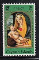 Cayman Islands MH 1969 Scott #249 12c Madonna And Child Variety: Colour Shift - Iles Caïmans