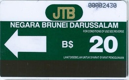 BRUNEI : BRN-02 : 20u  From 1st Issue  AUTELCA  Rare  First Controls Without Letter A - Brunei