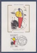 = Roland Garros 1991 Tournoi Du Centenaire Carte Postale 1er Jour Paris 24.5.91 N°2699 & Oeuvre De Miro Portrait Coupe - Cartoline Maximum