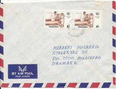 Tanzania Air Mail Cover Sent To Denmark 30-5-1986