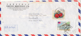 Taiwan Rep. Of China Air Mail Cover Sent To USA 1-11-1978 With Topical Stamps