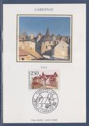 = Le Prieuré Et Le Cloître Carte Postale 1er Jour 46 Carennac 6.7.91 N°2705 Lot - Cartoline Maximum