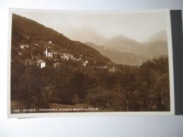 CARTOLINA FORMATO PICCOLO -  MARZIO PANORAMA SFONDO MONTI SVIZZERI  N° 269  - B 2144 - Varese