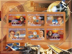 GUINEA 2007 SHEET MARS PATHFINDER SPACE CARL SAGAN RAY BRADBURY ARES VALLIS Gu07114 - Guinee (1958-...)