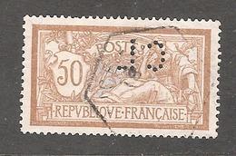 Perforé/perfin/lochung France Merson No 120 CL  Crédit Lyonnais (196) - Francia